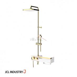 JCL 선반형 해바라기샤워기 J ONE-3000 PLUS (골드화이트) / 3way