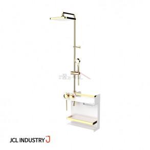 JCL 선반형 해바라기샤워기 J ONE-3000 PLUS (골드화이트) / 하부선반 / 3way