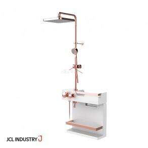 JCL 선반형 해바라기샤워기 J ONE-3000 PLUS (로즈골드) / 하부선반 / 3way