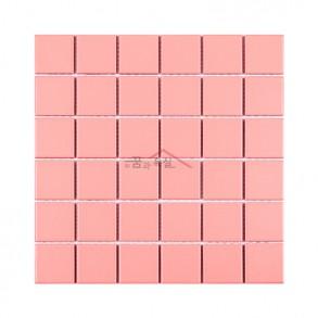 [모자이크 타일] 48×48 (306×306) / CH-04 / 체리보드 핑크