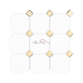 [모자이크 타일] 95×95(300×303) / G95-OCT.WHITE-GOLD
