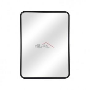 사각 라운드 미러 / 600×800 / 알루미늄 프레임 / 블랙