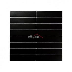 [모자이크 타일] 32.5×145 (295×280) / 32108S / 블랙 / 무광