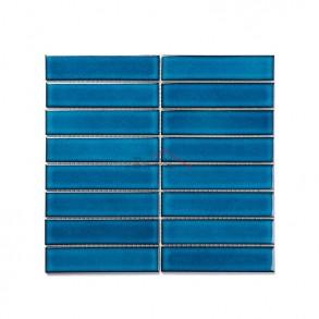 [모자이크 타일] 32.5×145 (295×280) / 32123S / 크리스탈 블루 / 유광
