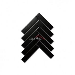 [모자이크 타일] 32.5×145 (209×247) / 32108V / 블랙 / 무광